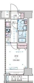 ジェノヴィア横浜関内Ⅱスカイガーデン6階Fの間取り画像
