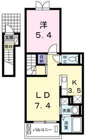 シェーネ2階Fの間取り画像