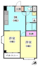 ドミール鹿島 2-D号室
