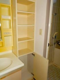 洗面所にある収納棚