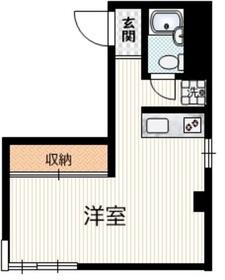 メゾネットパイン2階Fの間取り画像