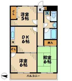 キャスケード283階Fの間取り画像
