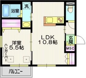 メゾンエスポワール2階Fの間取り画像