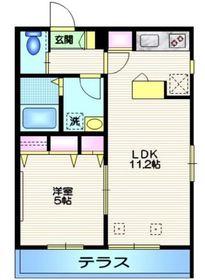 HOUSE WAON1階Fの間取り画像