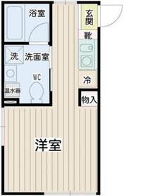 リチェンシア横浜平沼4階Fの間取り画像