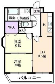 セルカリーオU3階Fの間取り画像
