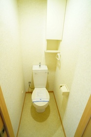 棚付がうれしいトイレです