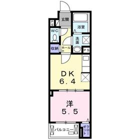 クレッセント2階Fの間取り画像