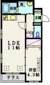 ヴァンベール山王1階Fの間取り画像