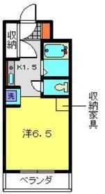 プラザ桜木町8階Fの間取り画像
