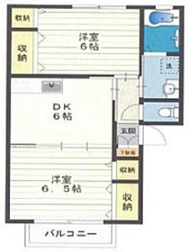 サンレイクビアンカA2階Fの間取り画像