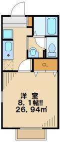 セジュール1階Fの間取り画像