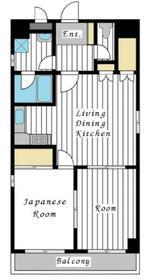 金子ビル4階Fの間取り画像