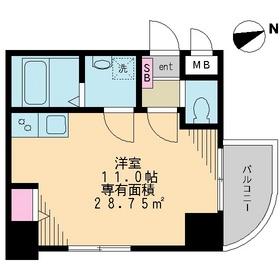 ベルウッド浅草2階Fの間取り画像