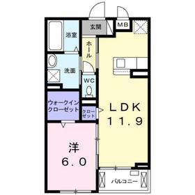 香川駅 徒歩11分2階Fの間取り画像