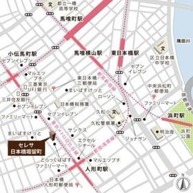 セレサ日本橋堀留町案内図