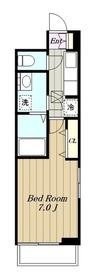 メゾン・ボナール1階Fの間取り画像