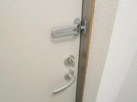 ドアガードが付いた玄関ドアです。