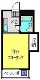 ベルメゾンツチヤ2階Fの間取り画像