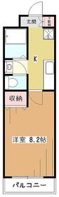 メゾンウィスタリア3階Fの間取り画像