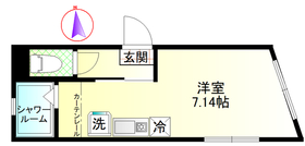 ウィンレックス赤羽二丁目5階Fの間取り画像