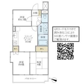 宇山パークマンション3階Fの間取り画像