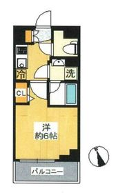 SHOKEN Residence横浜伊勢町6階Fの間取り画像