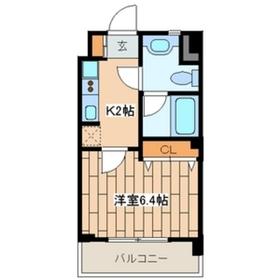 ヴァンヴェール21階Fの間取り画像