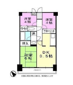 二俣川駅 徒歩7分4階Fの間取り画像