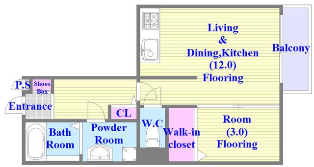 カーサ・エクレール A棟 この間取りなら、嬉しいゆったり空間が実感できるかも。
