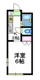 メゾンファミール2階Fの間取り画像
