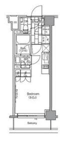 ザ・パークハビオ新宿5階Fの間取り画像