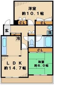 カセリオ五月台2階Fの間取り画像