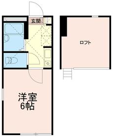 アートフル中野島1階Fの間取り画像