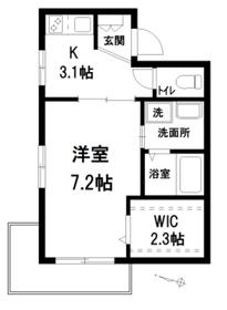 ヤマウロコWEST3階Fの間取り画像