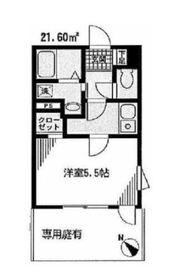 ディアコート石神井台1階Fの間取り画像