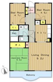 フォレストマンション4階Fの間取り画像