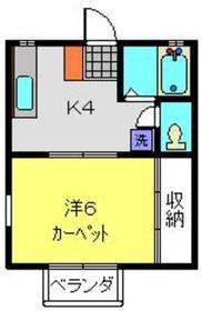 和田町駅 徒歩10分2階Fの間取り画像