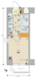 スカイコート品川御殿山7階Fの間取り画像