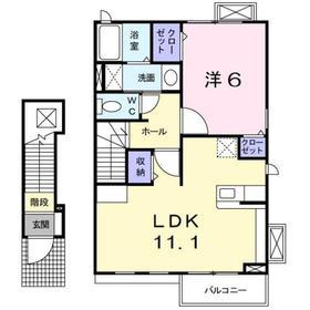 サニーレジデンス2階Fの間取り画像