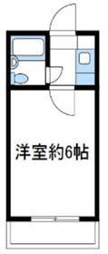レジデンスカープ厚木2階Fの間取り画像