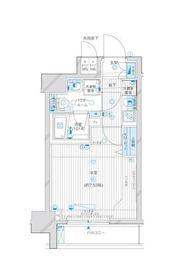 メインステージ川崎Ⅵエグザ7階Fの間取り画像