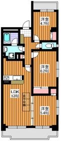 マルシェ2階Fの間取り画像