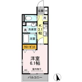 たか表参道2階Fの間取り画像