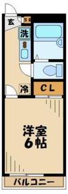 レオパレス諏訪1階Fの間取り画像