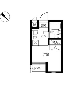 スカイコート生麦第54階Fの間取り画像