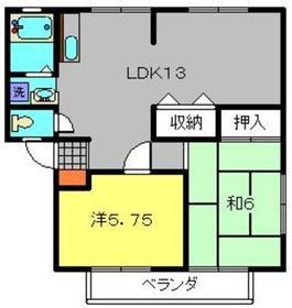井土ヶ谷駅 徒歩25分2階Fの間取り画像