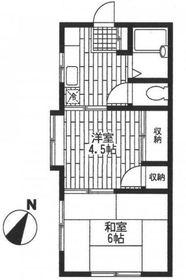 ハイツ藤沢1階Fの間取り画像