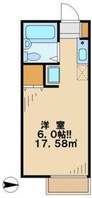 サンロロ2階Fの間取り画像