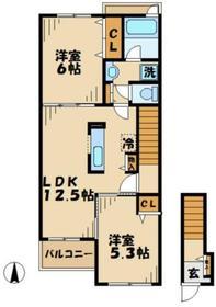 アルカンシエル2階Fの間取り画像